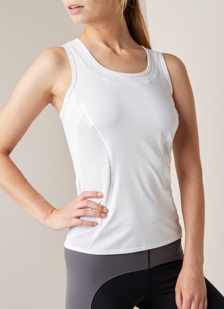 adidas - Trainings-Tanktop mit Mesh - Weiß