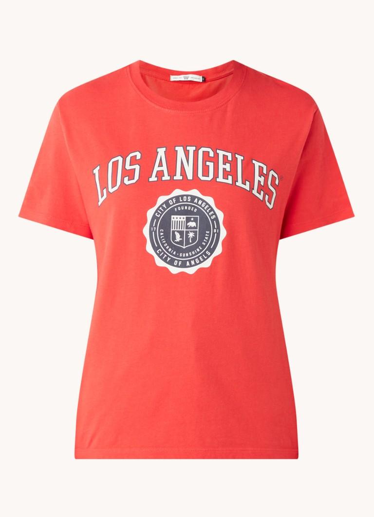 America Today Eve T Shirt mit Textdruck