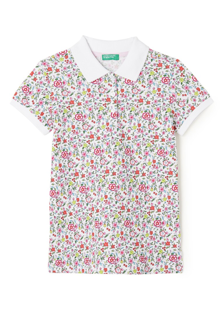 diario Cereal Contaminar  Benetton Poloshirt aus Piqué-Baumwolle mit Blumenmuster • Rosa • de  Bijenkorf