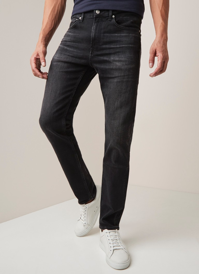 Calvin Klein - Slim Fit Jeans mit Stretch  - Anthrazit