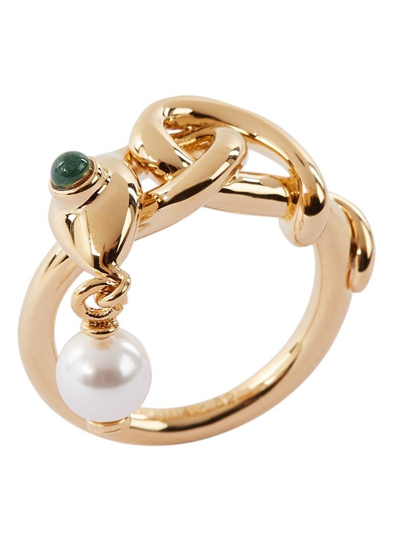 Chloé - Callie Pearl Ring mit Kristall - Gold
