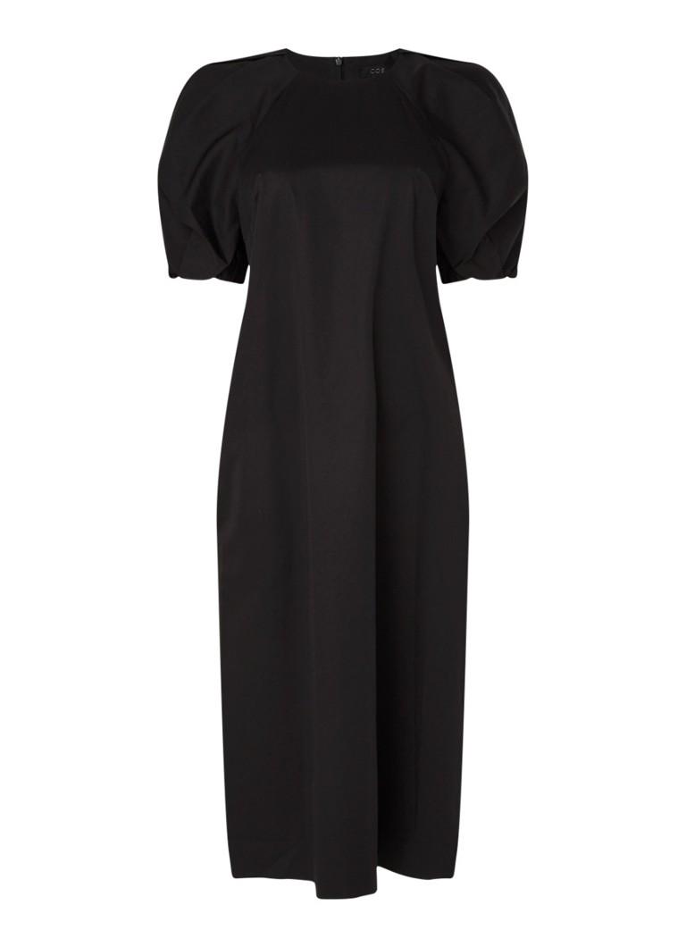 cos midikleid mit seitentaschen und puffärmel • schwarz • de