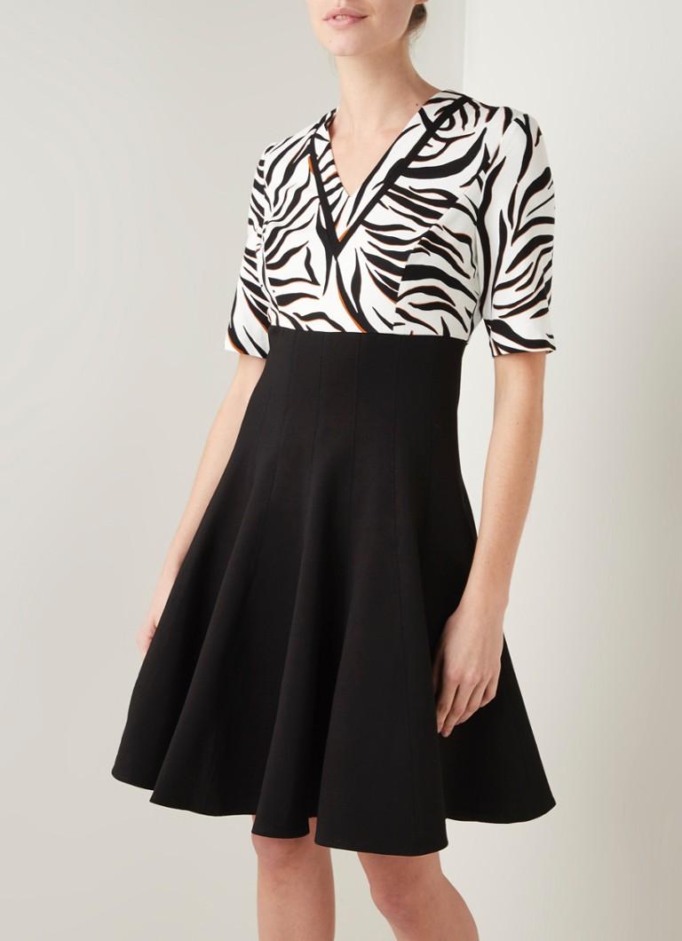 Damsel in a Dress Feden Midi-Kleid in A-Linie mit Zebradesign