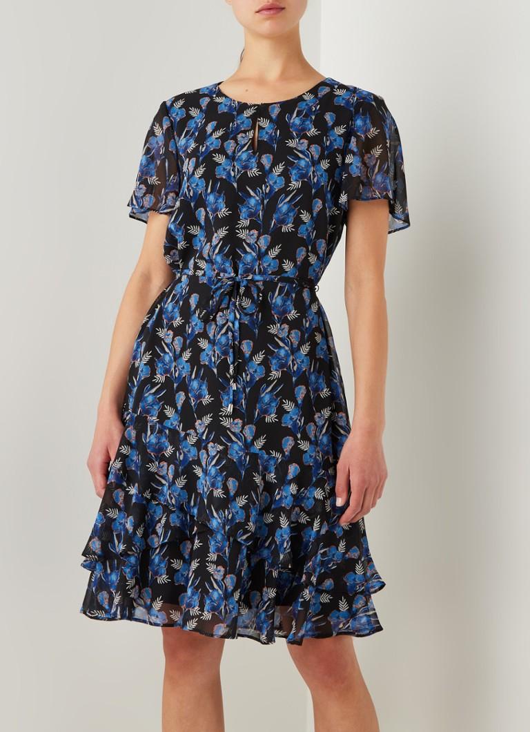 gerry weber minikleid mit volant und blumendruck