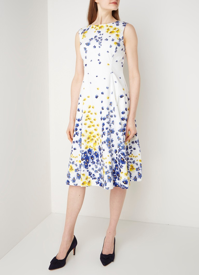 Hobbs Cleo Midi A-Linie Kleid mit Blumendruck