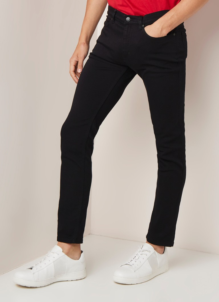 HUGO BOSS - Hugo 734 Skinny Fit Jeans mit Stretch - Schwarz