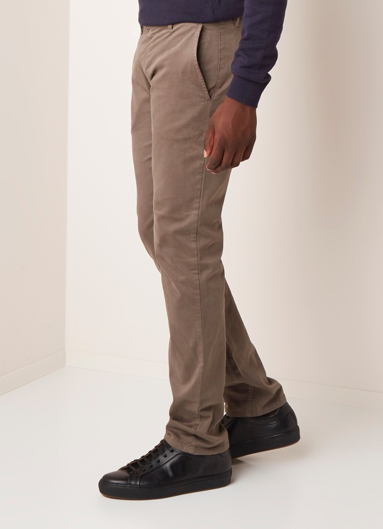 HUGO BOSS - Schino Slim Fit Chino mit Stretch - Dunkelbeige