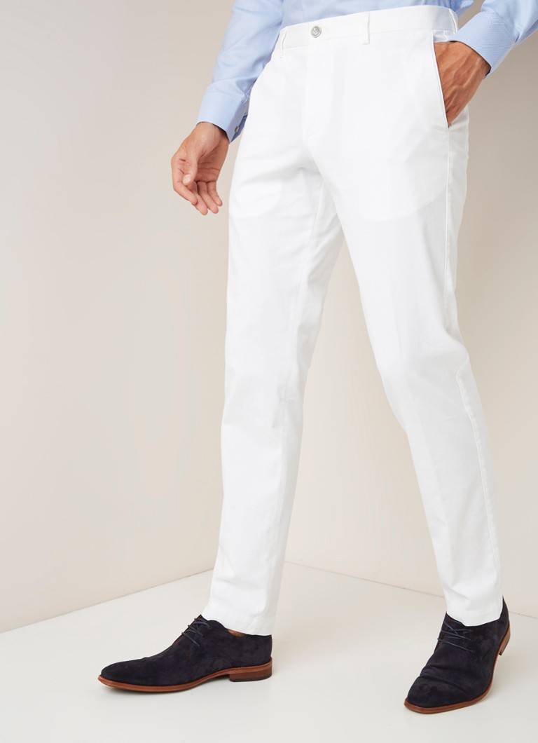HUGO BOSS - Statino Slim Fit Chino aus Baumwolle - Weiß