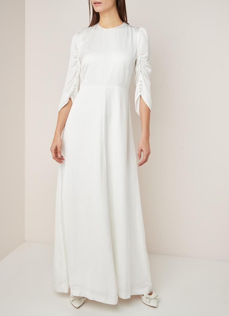 Ivy & Oak Hochzeitskleid mit Dreiviertelärmeln und Drapierung