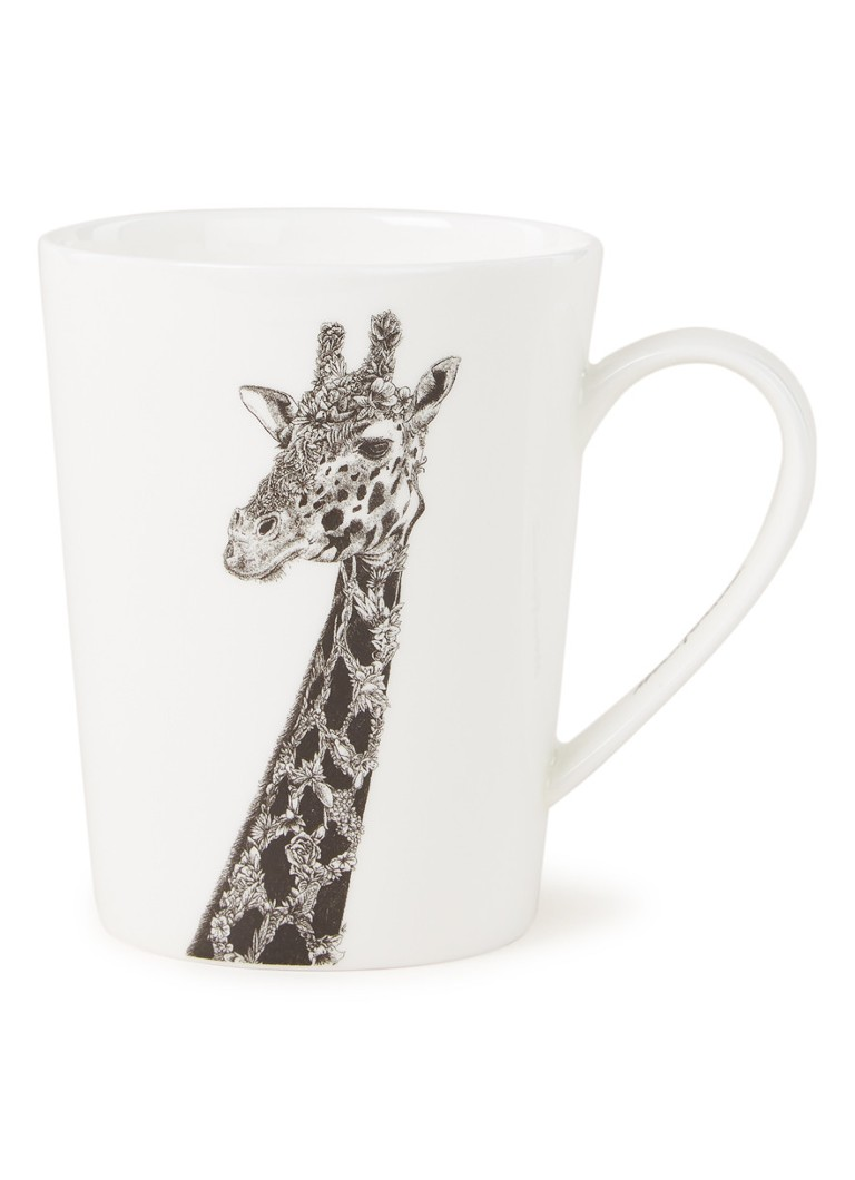 Maxwell & Williams - Tasse mit Giraffenmotiv 52 cl - Weiß