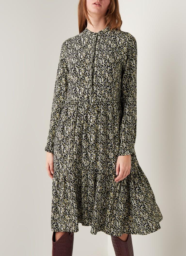 opus werani-tunika-kleid mit blumenmuster • schwarz • de