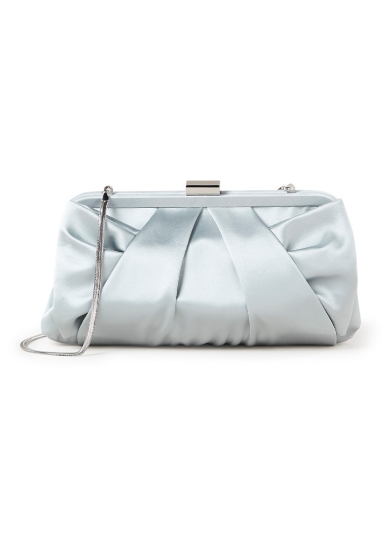 Phase Eight - Alice Clutch aus Satin - Silber