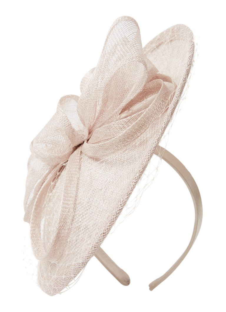 Phase Eight - Rihana Veiled Fascinator Stirnband mit Schleifendetail - Sand