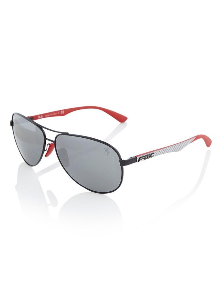 Ray Ban Sonnenbrille Scuderia Ferrari Collection Rb8313m Schwarz De Bijenkorf