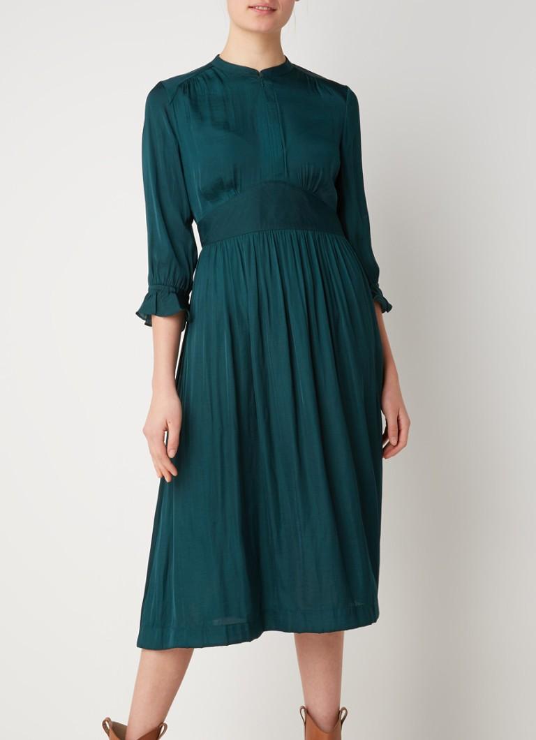 Scotch & Soda Midi-Kleid mit plissiertem Bund und Details ...