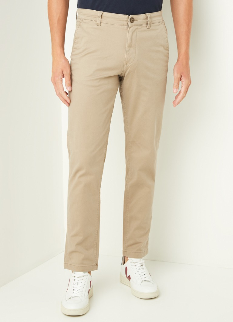 Selected Homme - New Paris Straight Fit Chino aus Bio-Baumwolle - Beige