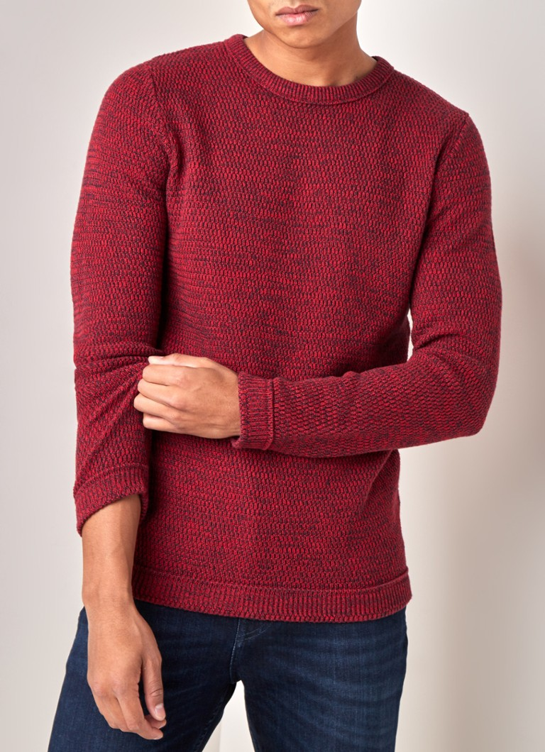 Selected Homme - Victor Grobstrickpullover aus Bio-Baumwolle - Rot