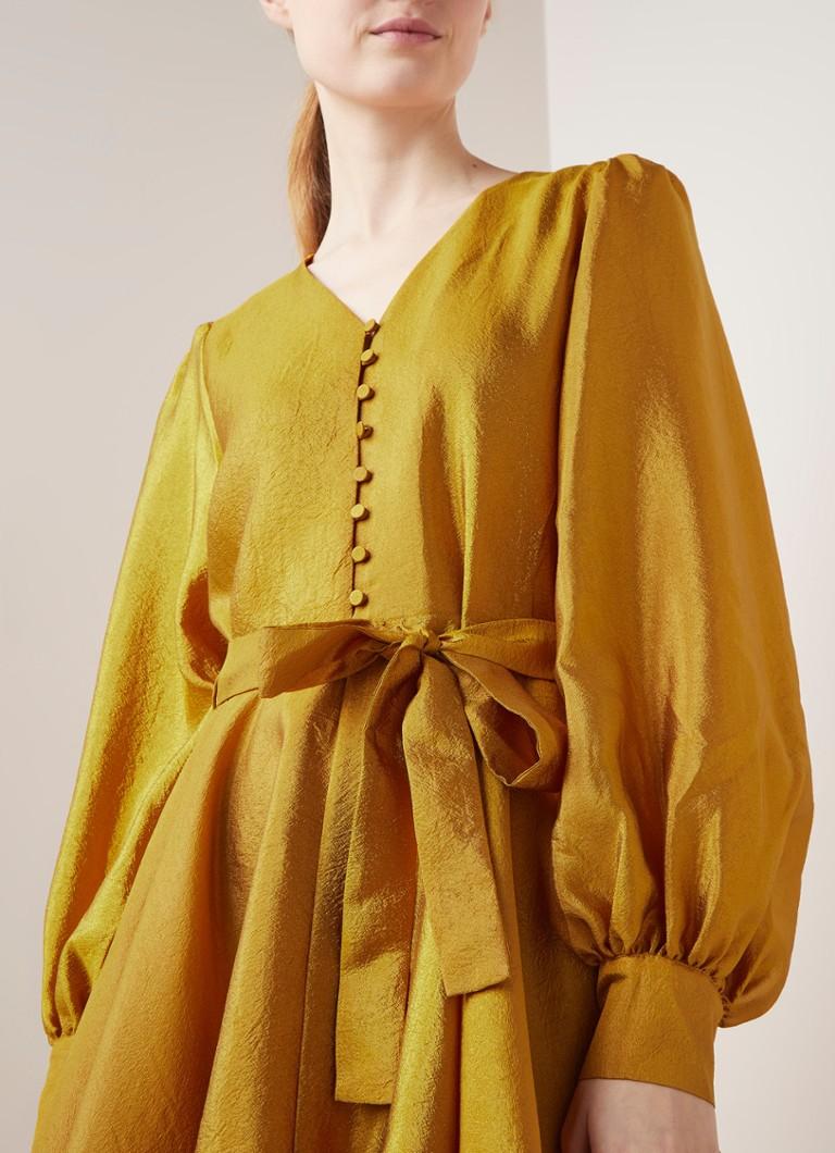 Stine Goya Farrow Tunika Kleid Aus Crepe Mit Ballonarmeln De Bijenkorf