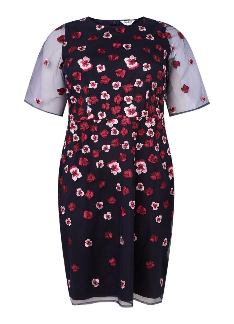 Studio 19 Monica Mini-Kleid mit Blumenstickerei