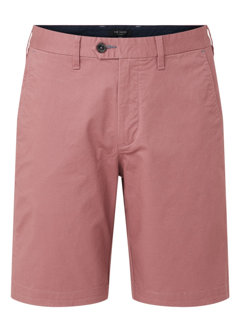 Ted Baker - Buenose Straight Fit Shorts mit Stretch - Rosa