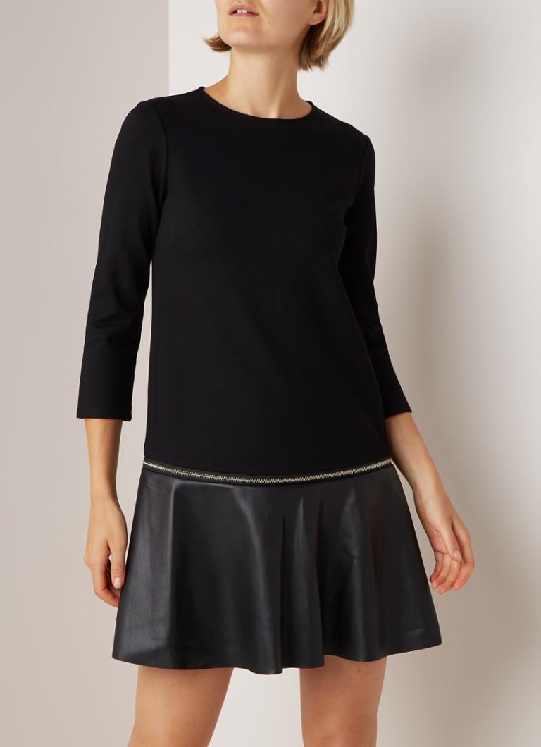 Ted Baker Editho Tunika-Kleid mit Reißverschluss und Kunstleder