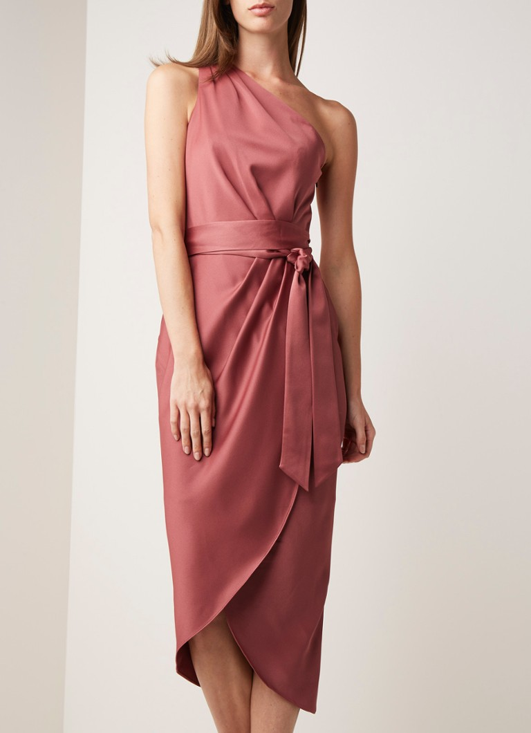 Ted Baker Gabie One-Shoulder-Kleid aus Satin mit Bindegürtel