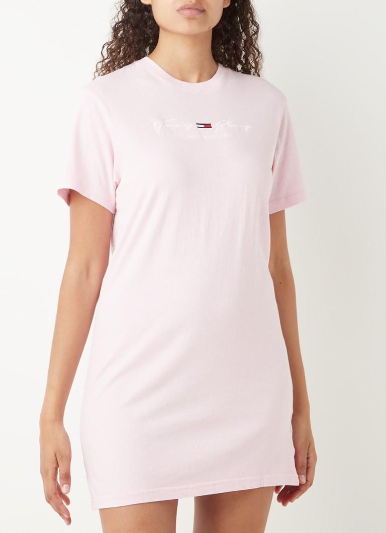 Tommy Hilfiger Mini T Shirt Kleid mit Logostickerei