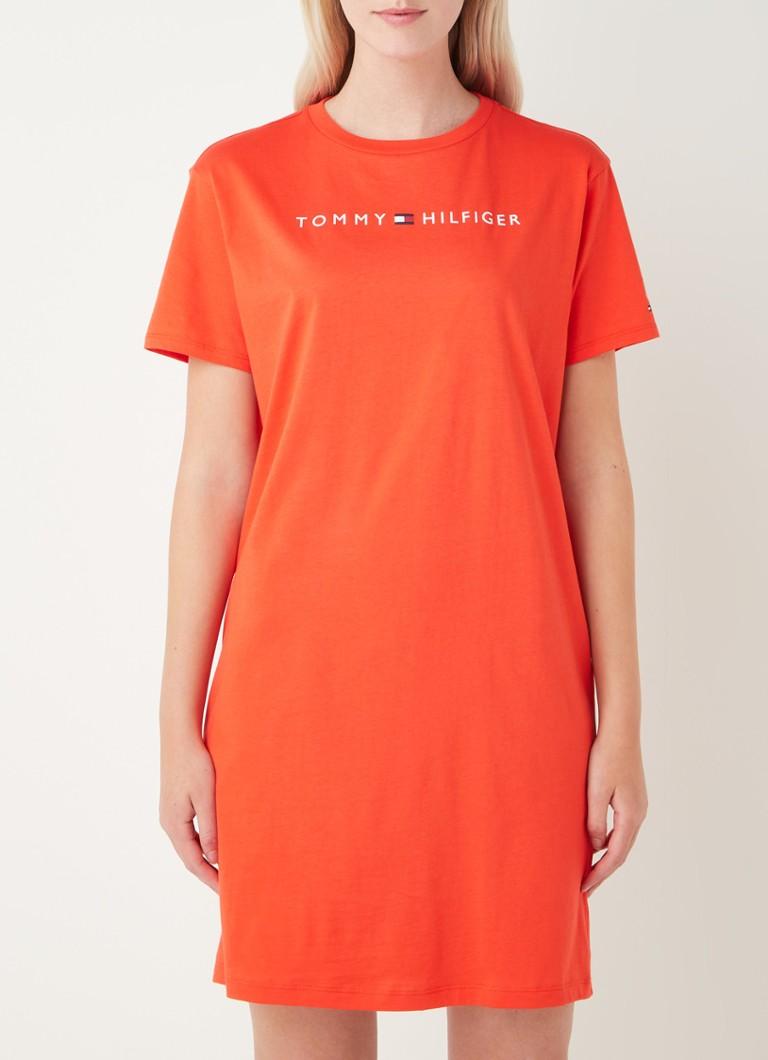 Tommy Hilfiger T Shirt Kleid mit Logoaufdruck • de Bijenkorf