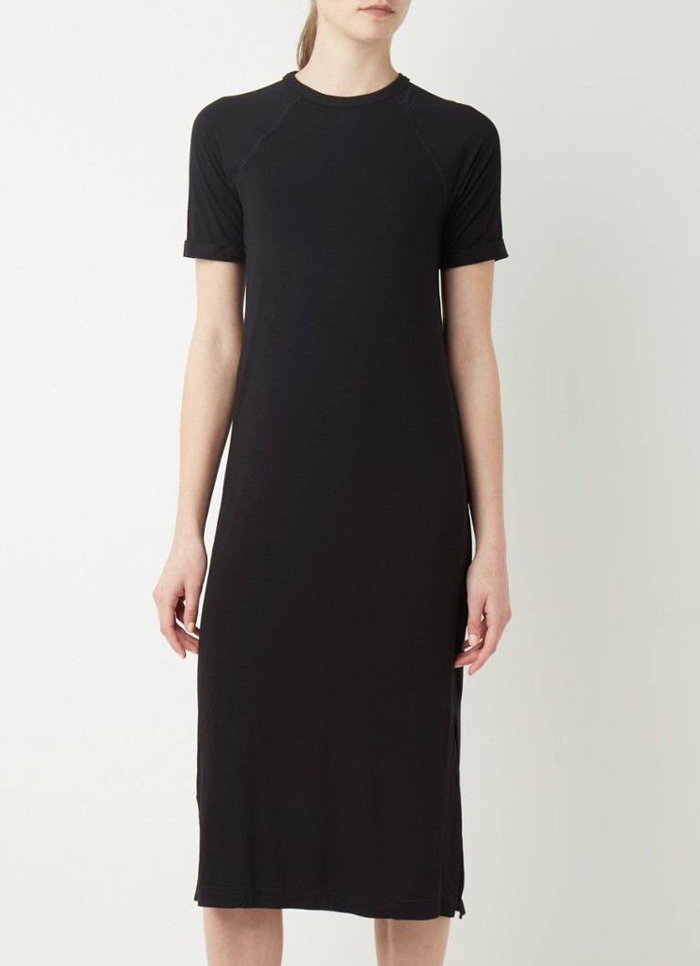 Whistles Midi T Shirt Kleid mit Schlitz