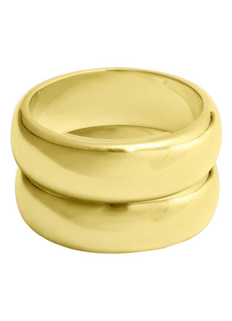 Wildthings - Double Trouble Ring mit 18 Karat vergoldet - Gold