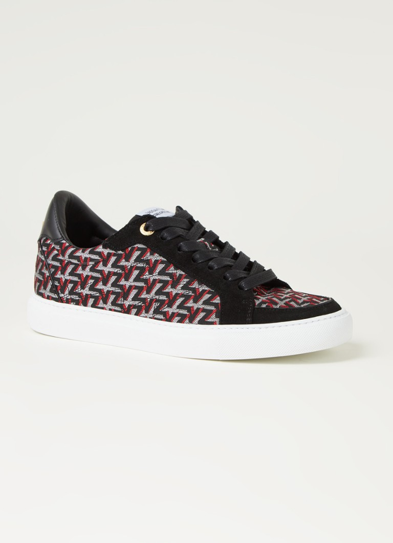 Zadig&Voltaire - Board Monogram Sneaker mit Wildlederdetails - Orange